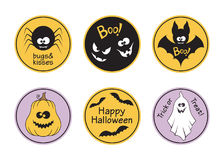 Halloween tags set Stock Photo