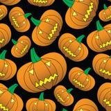 Halloween talló el modelo inconsútil de la calabaza Imagen de archivo libre de regalías
