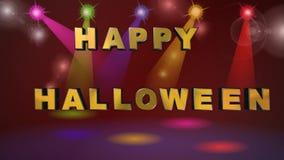 Halloween, tarjeta de felicitación, animación stock de ilustración