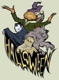 Halloween-Team Stockfoto