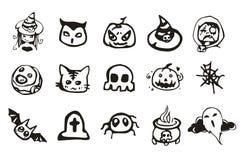 Halloween-Tekeningsreeks Royalty-vrije Stock Afbeeldingen