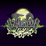 Halloween-tekst met graven Royalty-vrije Stock Foto's