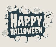 Halloween-tekstkalligrafie Stock Fotografie