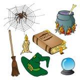 Halloween temasamling 02 royaltyfri illustrationer