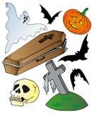 Halloween temasamling Royaltyfria Bilder