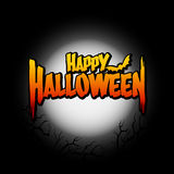 Halloween template background Stock Image