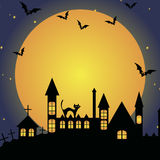 Halloween template frame. For card. vector illustration royalty free illustration