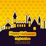 Halloween template frame. For card. vector illustration stock illustration