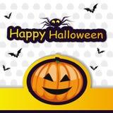 Halloween template frame. HalloHalloween template frame for card. vector illustrationween template frame for card. vector illustration royalty free illustration