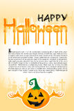 Halloween template with pumpkin Royalty Free Stock Images
