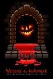 Halloween terrible door bloody entrance Stock Image