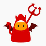 Halloween-Teufel-Kostüm-Vektor-Illustration lizenzfreie abbildung