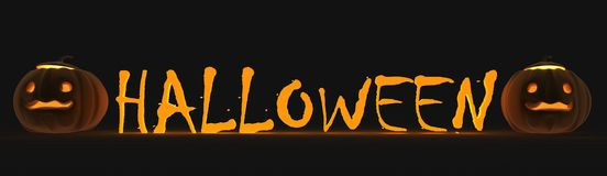 halloween text stock illustrationer