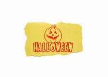 Halloween text on brown paper Royalty Free Stock Image