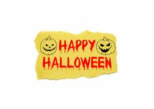 Halloween text on brown paper Royalty Free Stock Photos