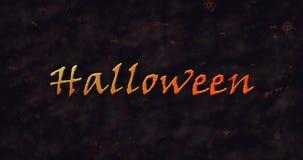 Halloween-Text, der in Staub sich auflöst, um einen Tiefstand zu erreichen vektor abbildung