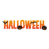 Halloween text design Royalty Free Stock Photography