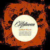 Halloween text and elements, full moon, grunge background EPS10 Royalty Free Stock Photos
