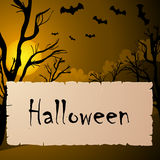 Halloween text frame Royalty Free Stock Images