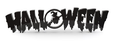 Halloween text symbol 3d Royalty Free Stock Photography