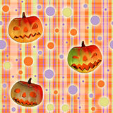 Halloween texture with pumpkins Stock Photo