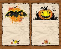 Halloween textured backgrounds 1 Stock Images