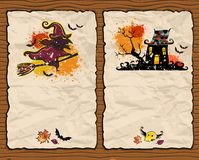 Halloween textured backgrounds 2 Stock Images