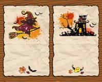 Halloween textured backgrounds 2 stock illustration