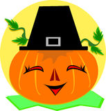 Halloween and Thanksgiving Pumpkin and Hat Royalty Free Stock Photography