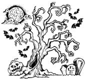 Halloween-thema die 4 trekken stock illustratie