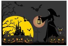 Halloween-Thema furchtsam Stockbild