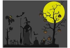 Halloween-Thema furchtsam Lizenzfreies Stockfoto