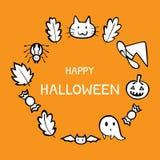 Halloween-thema vectorachtergrond royalty-vrije illustratie