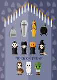 Halloween-Themageist-Charakteridee Lizenzfreies Stockbild