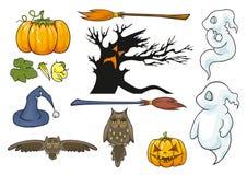 Halloween-themareeks. Royalty-vrije Stock Fotografie