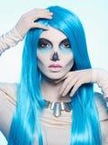 Halloween theme.death skeleton woman Stock Photography