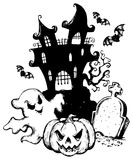 Halloween theme drawing 1 Stock Photography