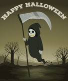 Halloween theme with ghost Royalty Free Stock Photos