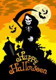 Halloween theme with grim reaper Royalty Free Stock Photography