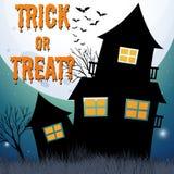 Halloween theme with haunted house Stock Photo