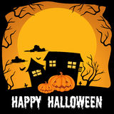 Halloween theme with haunted house Royalty Free Stock Images