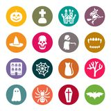 Halloween theme icons set Royalty Free Stock Images