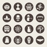 Halloween theme icons set Stock Photos