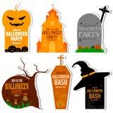 Halloween theme label Stock Photography