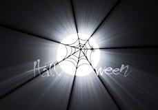 Halloween spiderweb moon light flare Stock Photos