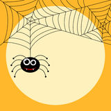Halloween themed cute spider with webs Royalty Free Stock Photography