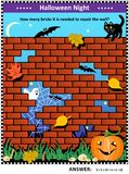 Halloween themed visual math puzzle Stock Photography