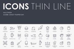 Halloween Thin Line Icons Stock Image