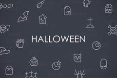 Halloween Thin Line Icons Royalty Free Stock Photo