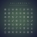 Halloween Thin Rounded Icons Set Stock Photo